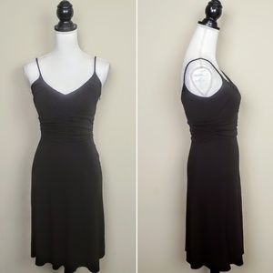 NWT ANN TAYLOR Dress, Black Solid Sleeveless, 0